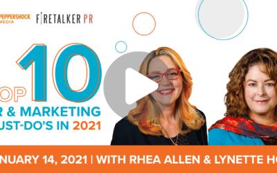 Top 10 PR & Marketing Must-Do's in 2021
